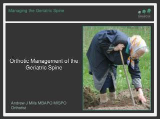 Managing the Geriatric Spine