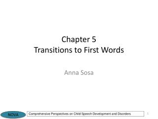 Chapter 5 Transitions to First Words