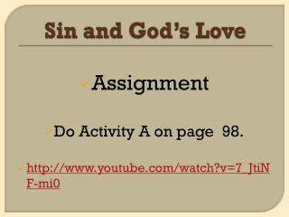 Sin and God's Love