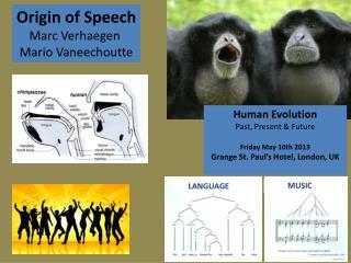 Origin of Speech Marc Verhaegen  Mario Vaneechoutte