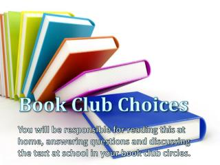 Book Club Choices