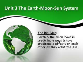 Unit 3 The Earth-Moon-Sun System