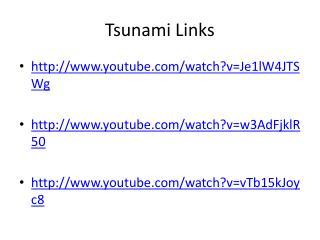 Tsunami Links