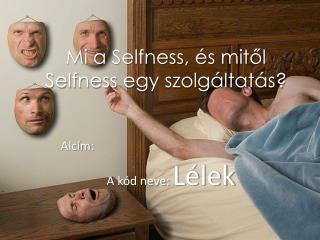 Mi a  Selfness , és mitől  Selfness  egy szolgáltatás?