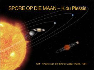 SPORE OP DIE MAAN – K du Plessis