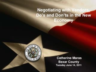 Negotiating with Vendors, Do's and Don'ts in the New Economy