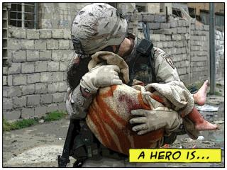 A Hero is someone who…