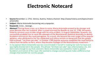 Electronic  Notecard