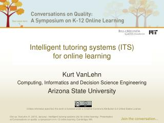 Intelligent tutoring systems (ITS) for online learning