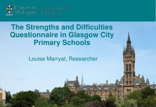 The Strengths and Difficulties Questionnaire in Glasgow City Primary Schools