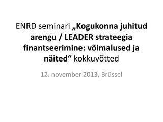 12. november 2013, Brüssel