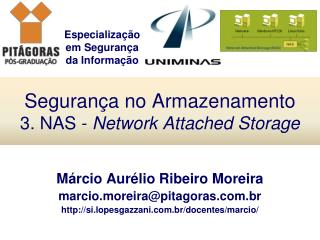 Seguran�a no Armazenamento 3. NAS -  Network Attached Storage