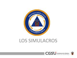 LOS SIMULACROS