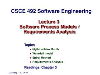 Lecture 3  Software Process Models