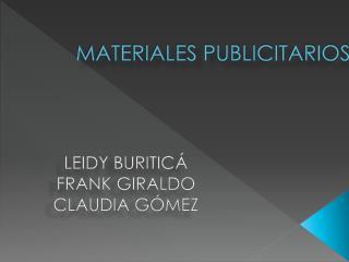MATERIALES PUBLICITARIOS