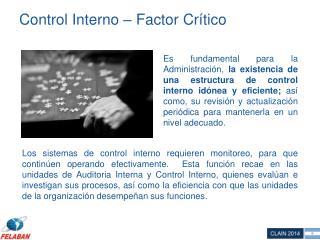 Control Interno – Factor Crítico