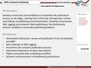Automated submission, review and publication from Scratchpads and GBIF New methods of XML tagging