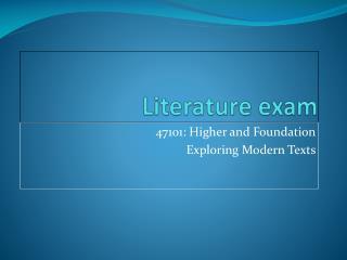 Literature exam