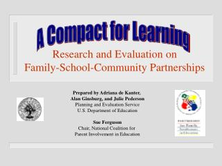 Research and Evaluation on  Family-School-Community Partnerships