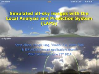 Simulated all-sky images with the Local Analysis and Prediction System (LAPS)