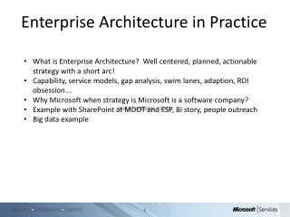 Enterprise Architecture in Practice