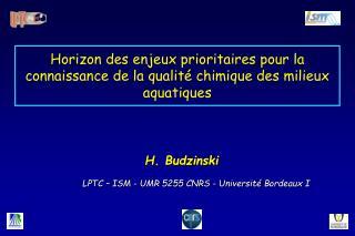 Horizon des enjeux prioritaires pour la connaissance de la qualit  chimique des milieux aquatiques