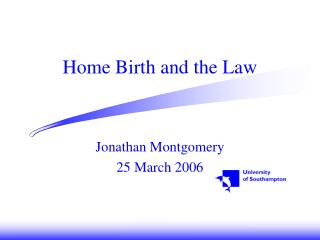 Home Birth and the Law