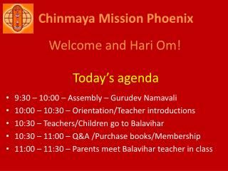 Chinmaya Mission Phoenix