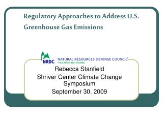 Regulatory Approaches to Address U.S. Greenhouse Gas Emissions