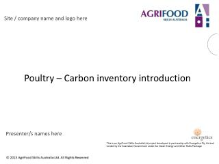 Poultry – Carbon inventory introduction