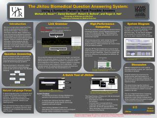 The Jikitou Biomedical Question Answering System :