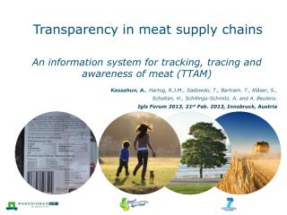 Transparency in meat supply chains