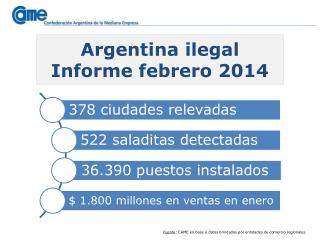 Argentina  ilegal Informe febrero 2014