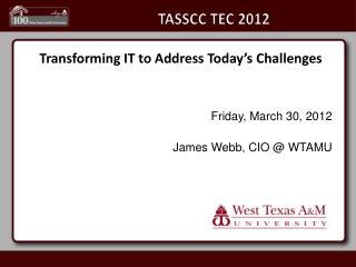 TASSCC TEC 2012