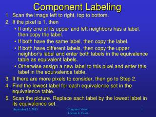 Component Labeling