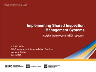 Implementing Shared Inspection Management Systems