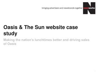 Oasis & The Sun website case study