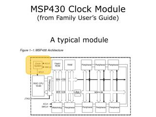 MSP430  Clock Module (from Family User's Guide)