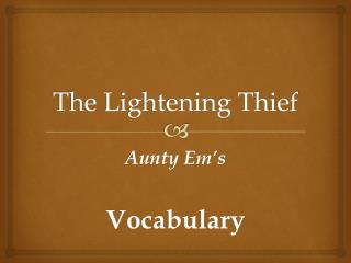The Lightening Thief