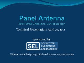 Panel Antenna 2011-2012 Capstone Senior Design