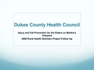 Dukes County Health Council