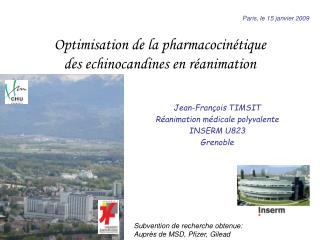 Optimisation de la pharmacocin tique des echinocandines en r animation