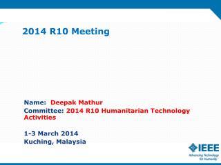 2014 R10 Meeting