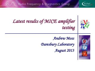Latest results of MICE amplifier testing