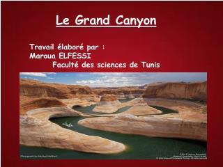 Le Grand Canyon Travail élaboré par : Maroua ELFESSI Faculté des sciences de Tunis