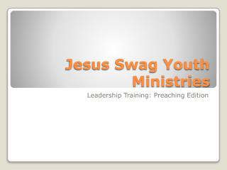 Jesus Swag Youth Ministries