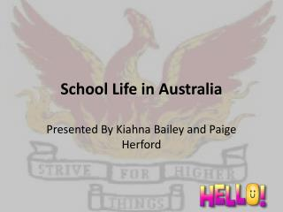 School Life in Australia