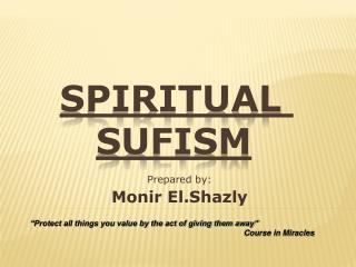 Spiritual  Sufism