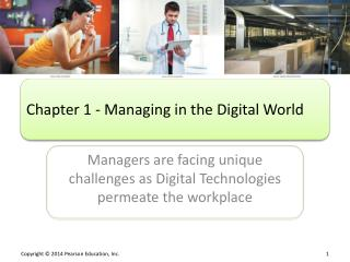 Chapter 1 - Managing in the Digital World