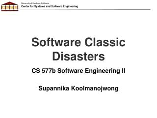 Software Classic Disasters